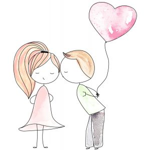 Love couple with Balloon